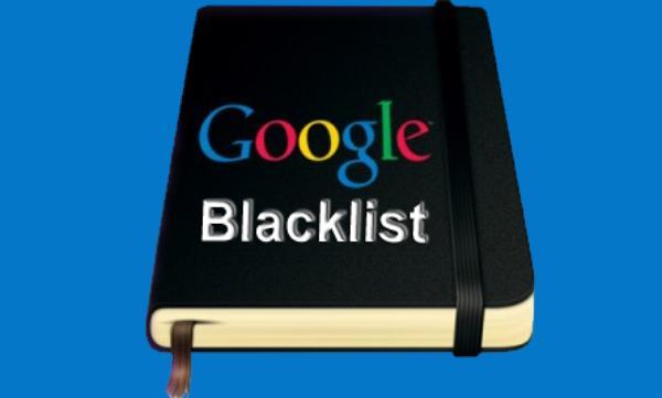 Hình phạt Google Blacklist
