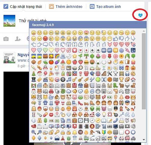 sử dụng icon facebook hợp lý