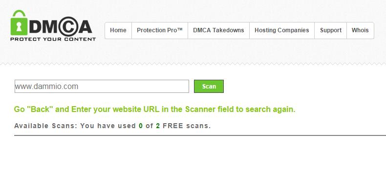 Công cụ DMCA Scan