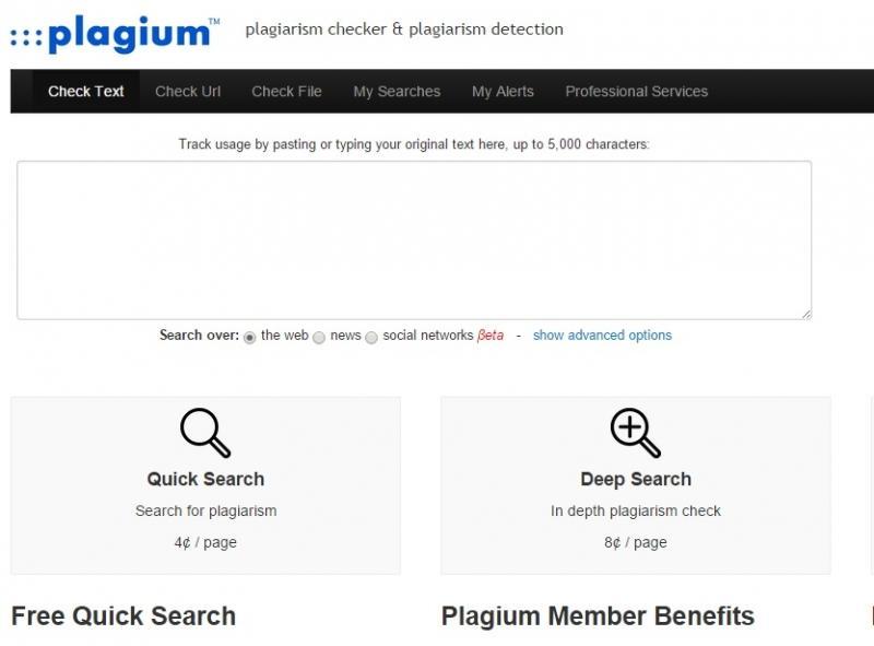 công cụ kiểm tra độ trùng lặp Plagium